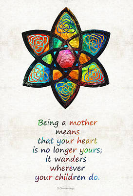 Mother Mom Art - Wandering Heart - By Sharon Cummings Poster by Sharon Cummings