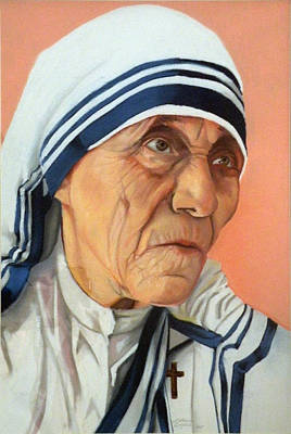 Mother Theresa Poster by Kathleen English-Barrett