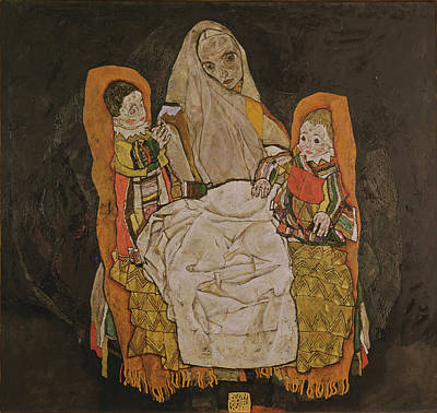 Mother With Two Children, 1915-17  Poster by Egon Schiele