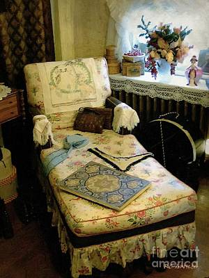 Mother's Chintz Chaise In The Corner Poster by RC deWinter