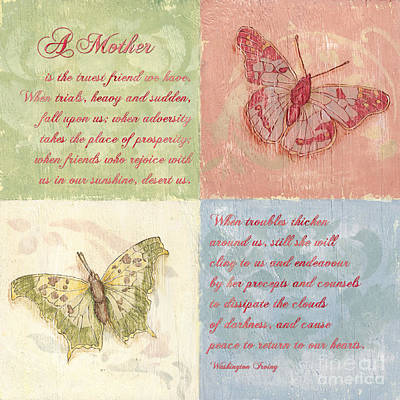 Mothers Day Butterfly Poster by Debbie DeWitt