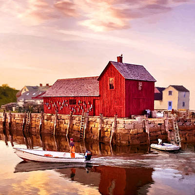 Motif Number One Rockport Massachusetts  Poster by Bob and Nadine Johnston
