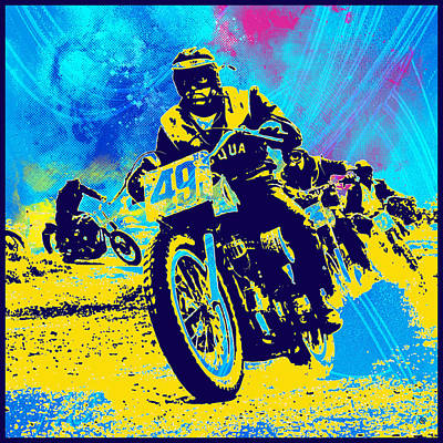 Moto Cross Poster by Gary Grayson