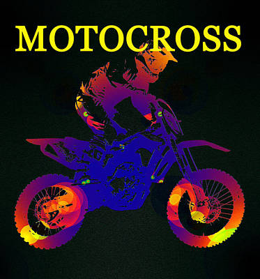 Motocross Color Work A Poster by David Lee Thompson