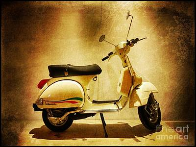 Motor Scooter Vespa Poster by Stefano Senise