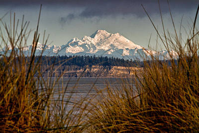 Mount Baker From Port Townsend Poster by Robert Woodward
