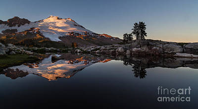 Mount Baker Sunset Glow Poster by Mike Reid