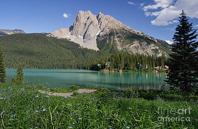 Mount Burgess And Emerald Lake Poster by Charles Kozierok