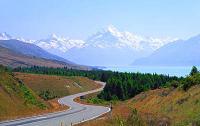 Mount Cook Highway Poster by Kevin Smith