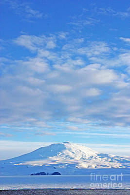 Mount Erebus In The Sunlight Poster by Stephen & Donna O'Meara