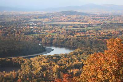 Mount Holyoke Connecticut River Fall Foliage Poster by John Burk