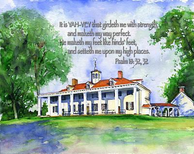 Mount Vernon Psalm 18 Poster by John D Benson