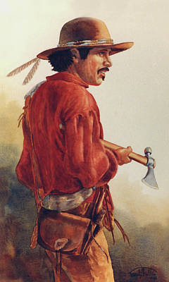 Mountain Man Poster by Randy Follis
