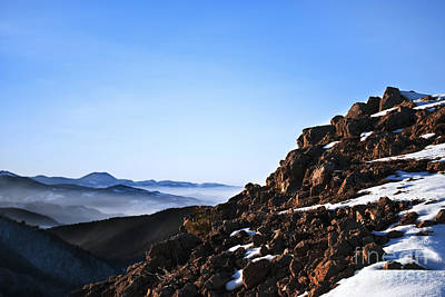 Mountain Peak Poster by Jelena Jovanovic