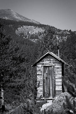 Mountain Privy Bw Poster by Julie Magers Soulen