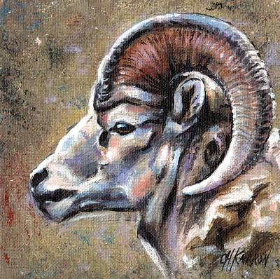 Mountain Sheep Poster by Christine Karron