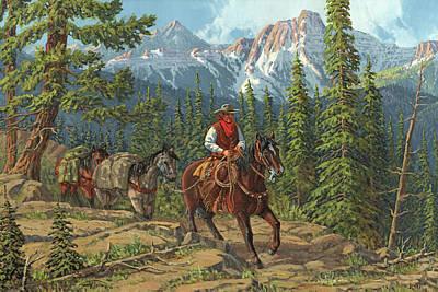 Mountain Traveler Poster by Randy Follis