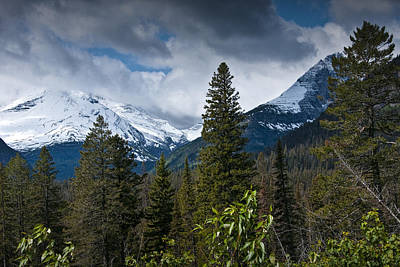 Mountain View At Glacier National Park Photo No. 3024 Poster by Randall Nyhof