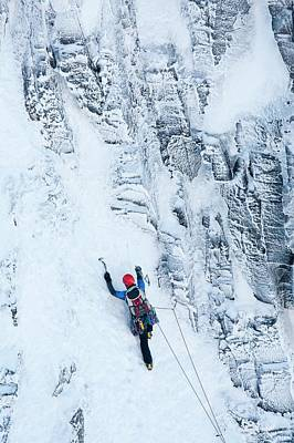 Mountaineer Winter Climbing Poster by Ashley Cooper