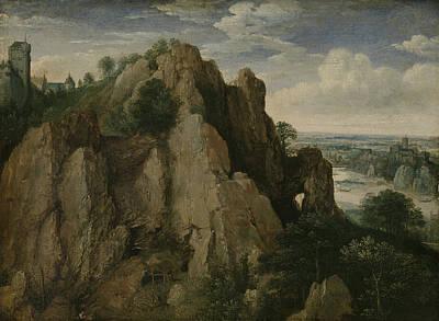 Mountainous Landscape, Lucas Van Valckenborch Poster by Litz Collection