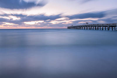 Moving Along The Pier Poster by Jon Glaser