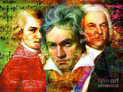 Mozart Beethoven Bach 20140128 Poster by Wingsdomain Art and Photography