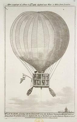 Mr. Lunardi Ascending Poster by British Library