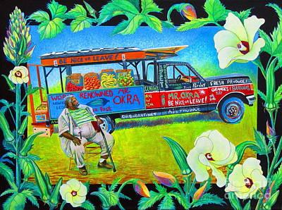 Mr Okra Poster by Pamela Iris Harden