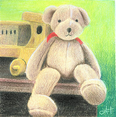 Mr Teddy Poster by Ana Tirolese