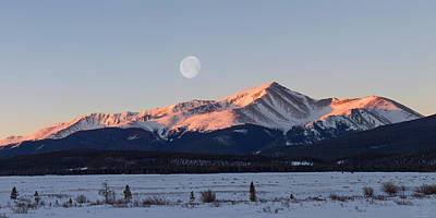 Mt. Elbert Sunrise Poster by Aaron Spong