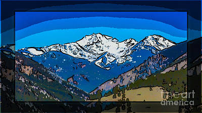 Mt Gardner In The Spring Abstract Painting  Poster by Omaste Witkowski