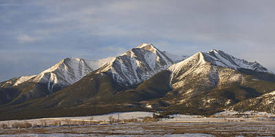 Mt. Princeton Sunrise Poster by Aaron Spong