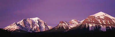 Mt Temple Banff Provincial Park Canada Poster by Panoramic Images