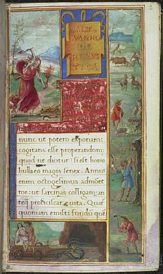 Mt. Varro De Rerustica Poster by British Library
