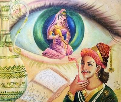 Mughal King Dreaming Poster by Jyoti Sharma