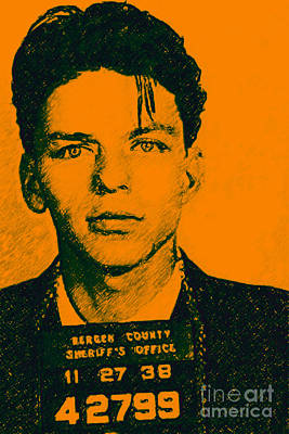 Mugshot Frank Sinatra V1 Poster by Wingsdomain Art and Photography