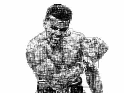 Muhammad Ali Poster by Harold Belarmino