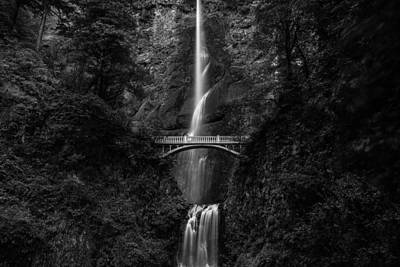 Multnomah Falls Poster by Adam Mateo Fierro