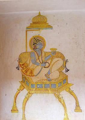 Mural Mehrangarh Fort 10th Century Poster by Tom Norring