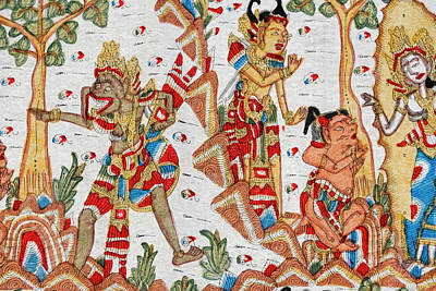 Mural, Mother Temple Of Besakih Poster by Keren Su