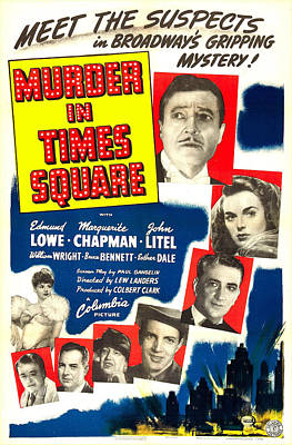 Murder In Times Square, Us Poster Poster by Everett