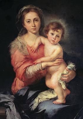 Murillo Bartolom Esteban, Madonna Poster by Everett