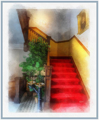 Museum Stairs Poster by Rick Lloyd