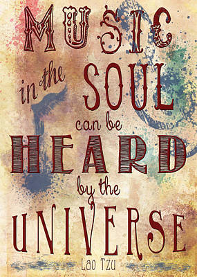 Music In The Soul Poster by Heather Applegate