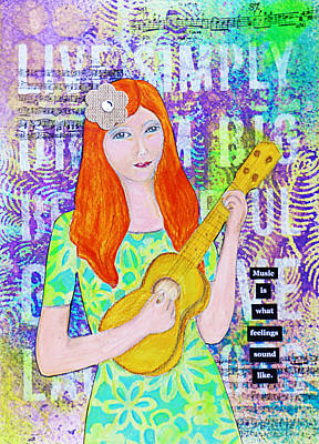 Music Is Poster by Lynn Colwell
