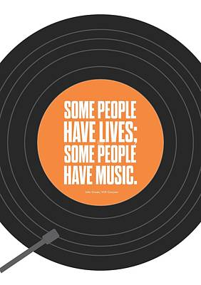 Music Quotes Typography Print Poster Poster by Lab No 4 - The Quotography Department