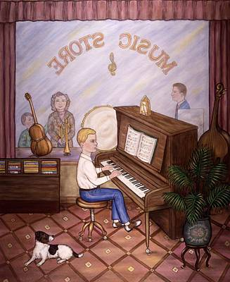 Music Store Poster by Linda Mears