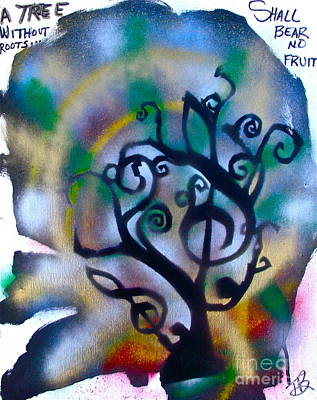 Musical Tree Blue Poster by Tony B Conscious