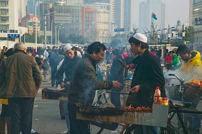 Muslim Chinese Uyghur Minority Food Poster by Panoramic Images