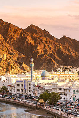 Mutrah Harbor At Sunset - Muscat - Oman Poster by Matteo Colombo